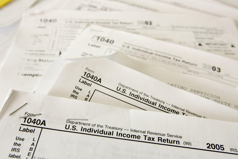 tax forms photo tax refund