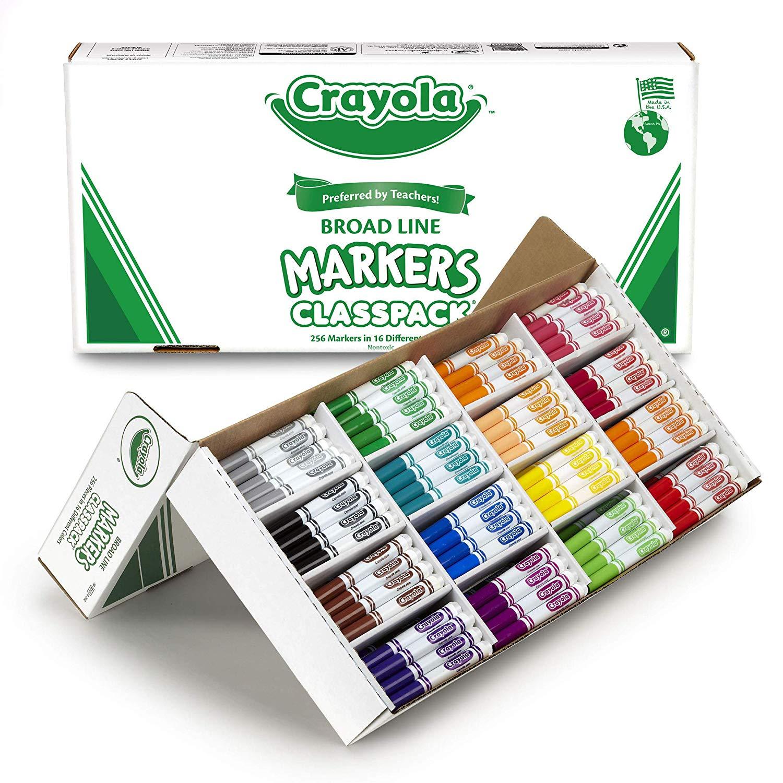 Crayola Broad Line Markers, Bulk 256 ct