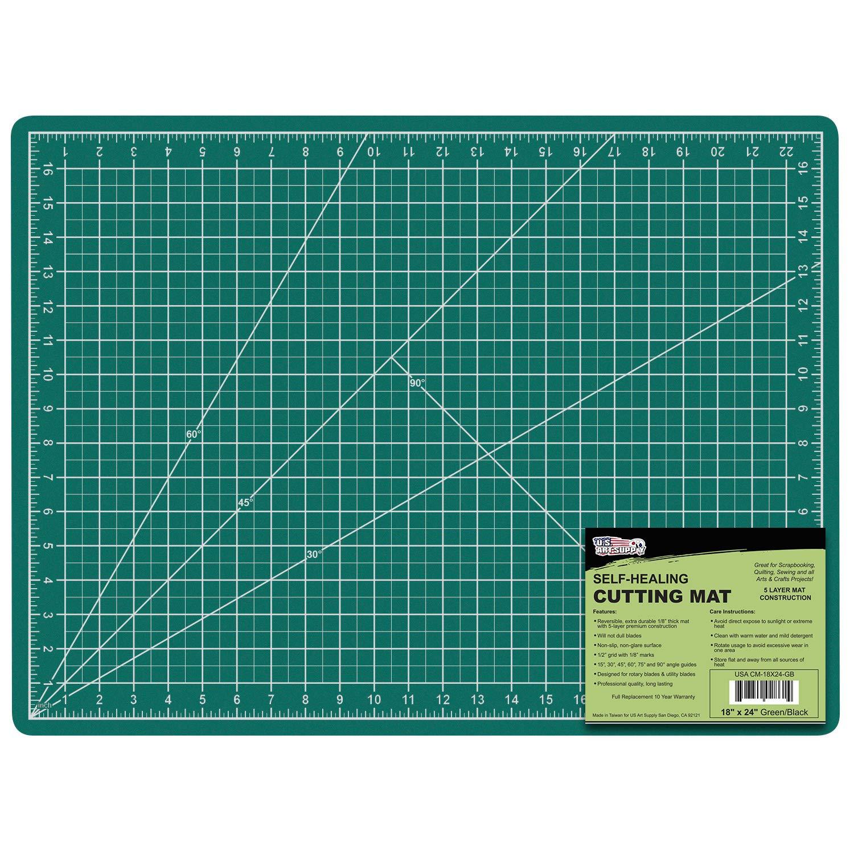 US Art Supply 18″x24″ Professional Self-Healing Cutting Mat