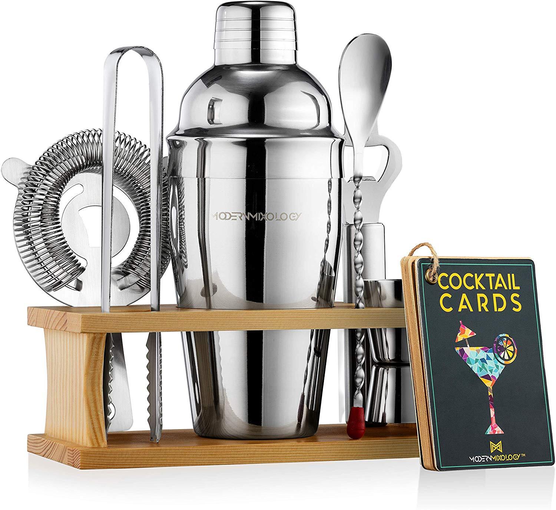 Modern Mixology Bartender Cocktail Shaker Kit