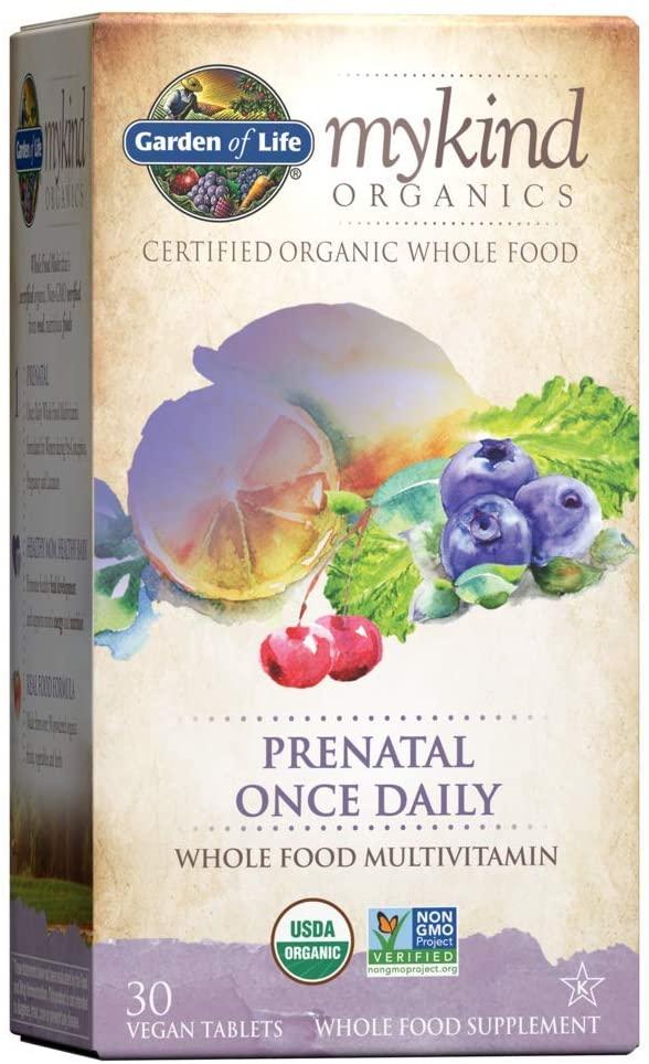 Garden Of Life mykind Organic Non-GMO & Kosher Prenatal Vitamin, 30-Count