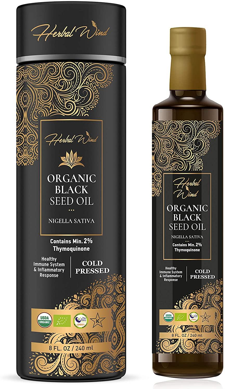 Herbal Wind USDA Organic Black Seed Oil