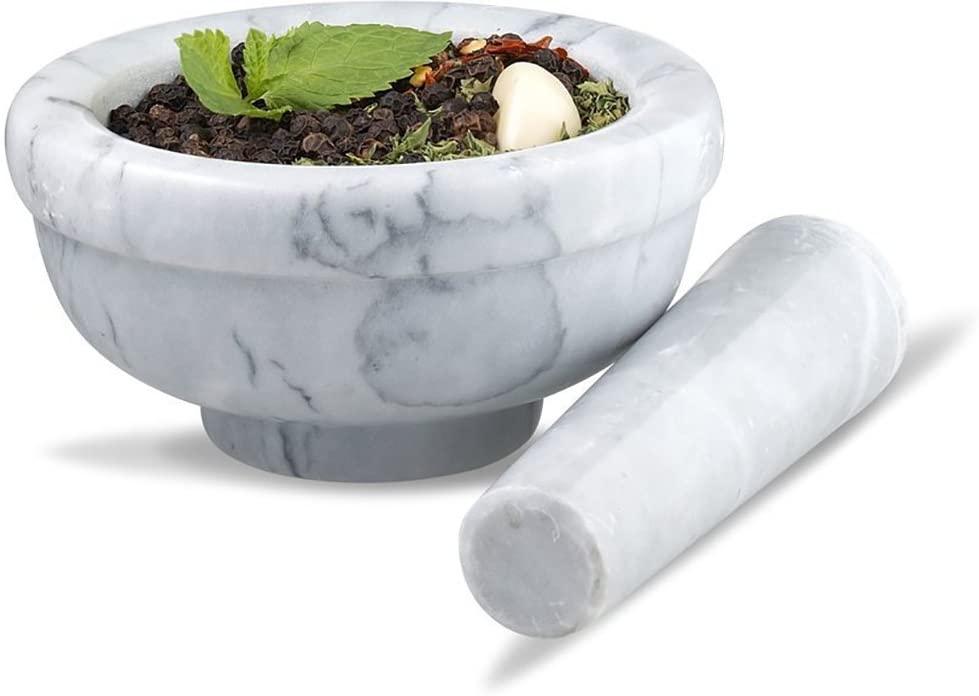 Sagler Marble Grey Mortar & Pestle
