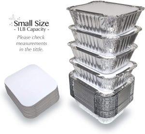 Spare Essentials Aluminum Lidded Disposable Cookware, 55-Pack